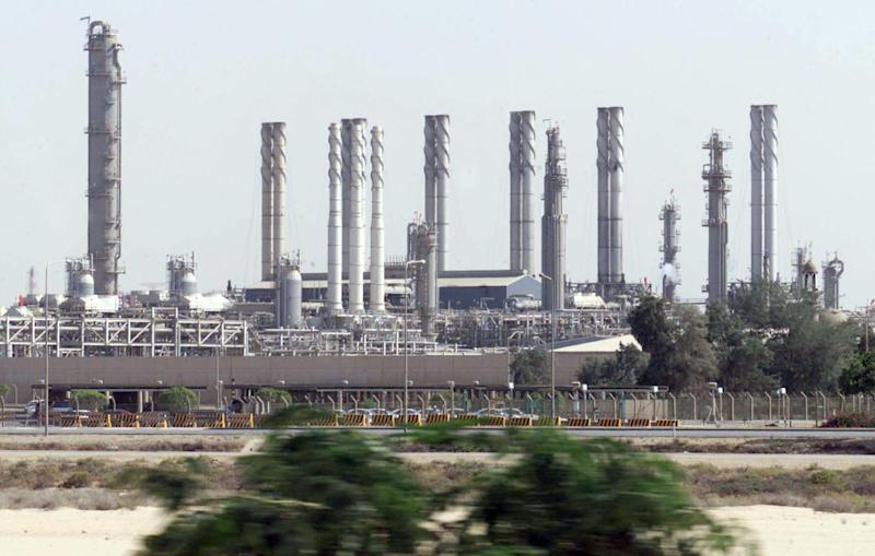 Renewed air strikes by the United Arab Emirates against the Islamic State group have hit oil refineries, as one pictured here, run by the jihadists, the state news agency reported on Monday