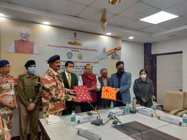 ITBP signs MoU with KVIC for supplying Khadi durries for CAPF jawan (Photo/ANI)