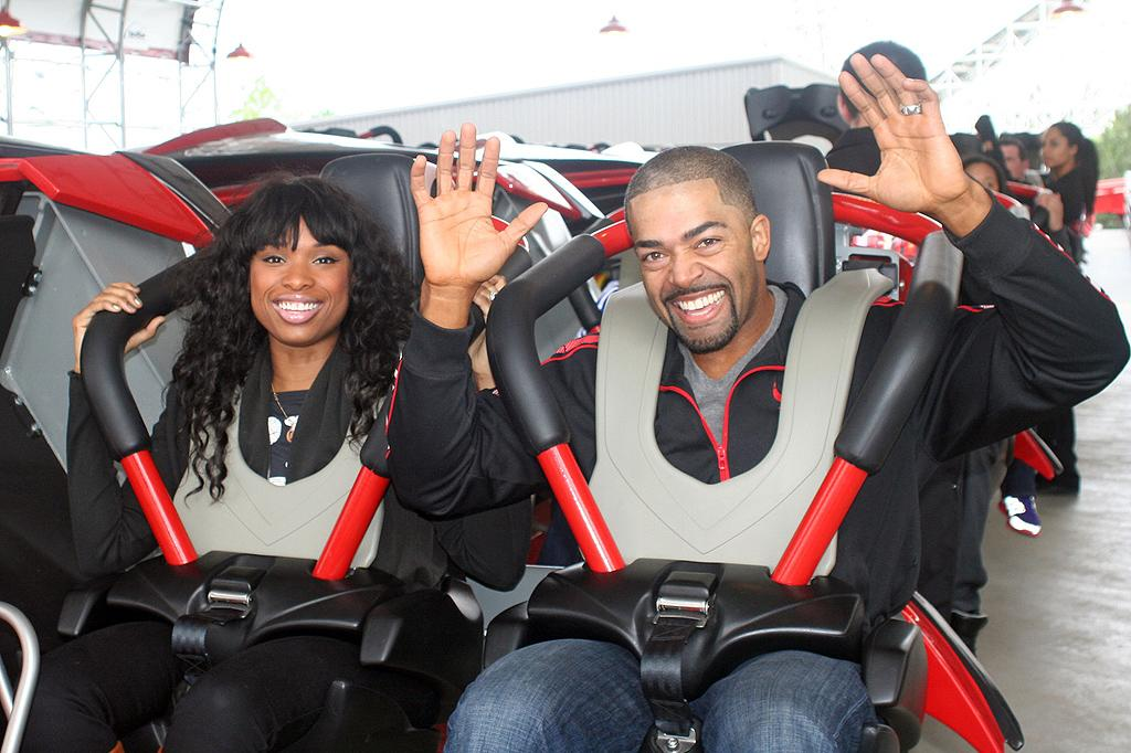 Jennifer Hudson has had an emotional few weeks, testifying at the trial of the man who was accused of murdering her mother, brother, and nephew (and was later found guilty). But the 30-year-old had a little well-deserved fun over the weekend when she and fiance David Otunga took a roller coaster ride at Six Flags Great America in Gurnee, Illinois. (5/13/2012)