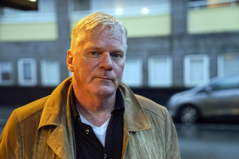 "WikiLeaks editor-in-chief Kristinn Hrafnsson poses for a photograph in Reykjavik, Iceland on Friday, Nov. 16, 2018. Hrafnsson says that the news that Julian Assange, WikiLeaks' founder, faces unspecified charges in the United States is a ""black day for journalism."" (AP Photo/Egill Bjarnason)"