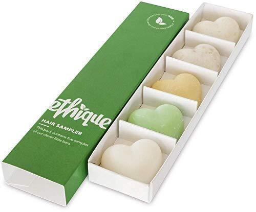"""<h3>Ethique Eco-Friendly Shampoo & Conditioner Bars</h3><br>This slim sleeve is stocking-stuffer sized and filled with five heart-shaped bars of sustainably made, soap-free, and plant-based bars of shampoo and conditioner. <br><br><strong>Ethique</strong> Plant-Based Shampoo & Conditioner Bars (5-Pack), $, available at <a href=""""https://amzn.to/3mxIpP6"""" rel=""""nofollow noopener"""" target=""""_blank"""" data-ylk=""""slk:Amazon"""" class=""""link rapid-noclick-resp"""">Amazon</a>"""