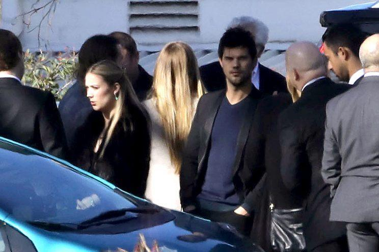 AG_160997 - - Los Angeles, CA - Friends and Family arrive to the funeral for Debbie Reynolds and Carrie Fisher. Billie Lourd is seen getting emotional as Taylor Lautner is seen staying close for emotional support. Todd Fisher was also seen at the service. AKM-GSI 6 JANUARY 2017 To License These Photos, Please Contact : Maria Buda (917) 242-1505 mbuda@akmgsi.com or Mark Satter (317) 691-9592 msatter@akmgsi.com sales@akmgsi.com