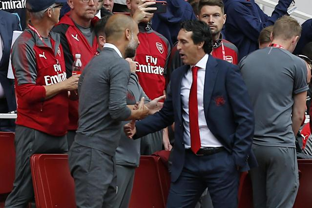 Big job on: Arsenal boss Unai Emery has his work cut out as the Gunners lack creativity against Manchester City