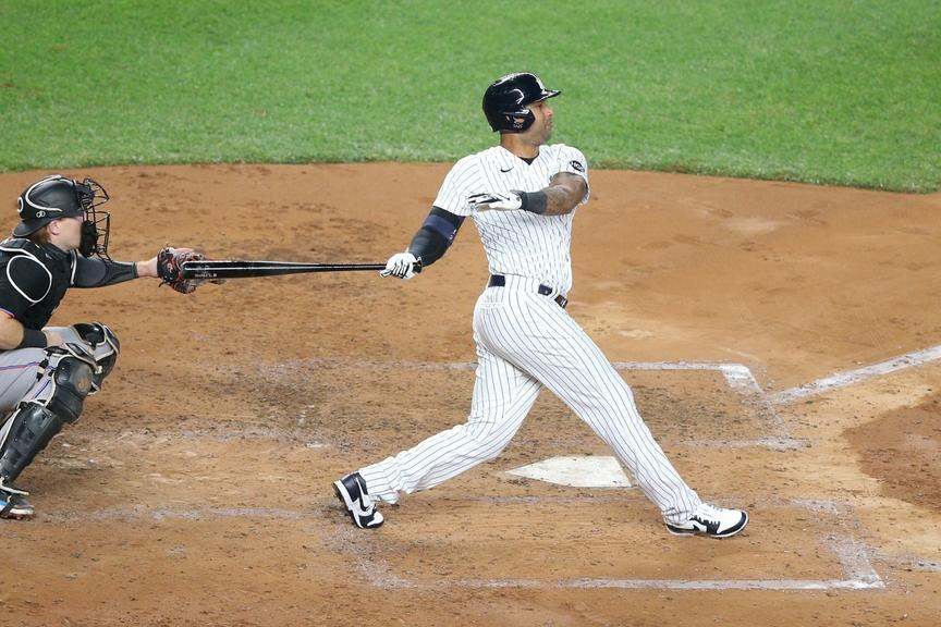Aaron Hicks hits home run against Marlins