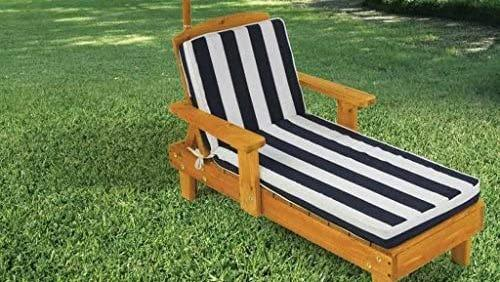This pint-sized lounge chair also comes with an umbrella for shade.
