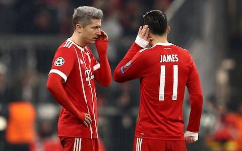 Bayern Munich won 3-1 on Tuesday to deal Paris Saint-Germain its biggest defeat of the season but still had to settle for second place behind the French team in their Champions League group. Bayern lost the previous meeting 3-0 in Paris - a defeat that cost Carlo Ancelotti his job as manager - and needed to beat PSG by four goals to finish top of Group B. Both sides were already assured of progress to the last 16. Robert Lewandowski got Bayern off to a flying start after Kingsley Coman headed James Rodriguez's cross towards goal. The Poland striker needed no second invitation for his third goal of the campaign. The home side assumed control, though Kylian Mbappe and Neymar showed glimpses of their considerable talent. The Brazilian should have done better when Mbappe sent him through with a brilliant pass. James crossed for Corentin Tolisso to double Bayern's lead before the break. Corentin Tolisso scored twice on the night Credit: AFP Bayern needed just two more in the second half to top the group, but Mbappe dented those hopes soon after the break when Edinson Cavani lifted the ball for the 18-year-old to head past Sven Ulreich in the Bayern goal. Coman burst through to set up Tolisso's second goal midway through the half. It was enough to restore the home side's pride, albeit not enough to top the group. Both sides finished with 15 points, well ahead of Celtic and Anderlecht, both on three. Anderlecht won 1-0 in Glasgow but Celtic finished third to take the Europa League place. 9:40PM Full-time There's a late scramble as Cavani and then Neymar try and bundle the ball him. Moments later Mbappe is denied by a brilliant Ulreich save as he looks to convert Neymar's cross from close range. Lewandowski then makes a mess of a one on one as he mistakenly tries to chip Areola and ends up sky-ing the chance. But the final whistle goes, and it finishes Bayern Munich 3 PSG 1. PSG top Group B on the head to head rule. Corentin Tolisso makes it 3-1 Credit: Getty Images 9:36PM 
