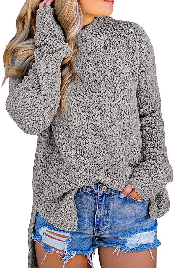 <p>The bumpy texture of this <span>Botlav Popcorn High Neck Sweater</span> ($22-$23) makes solid shades instantly more interesting. </p>