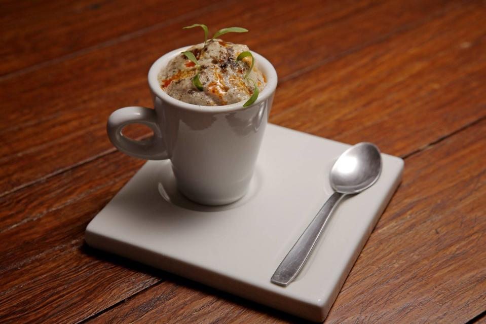 "<p>Bricio Domínguez proved himself as one of the most original chefs in Mexico at his <a href=""http://www.thedailymeal.com/25-best-restaurants-mexico/11714"" rel=""nofollow noopener"" target=""_blank"" data-ylk=""slk:El Jardín de los Milagros"" class=""link rapid-noclick-resp""><strong>El Jardín de los Milagros</strong> </a>in the central Mexican capital of Guanajuato. That establishment is still going strong, but now Dominguez has expanded his reach into the pretty tourist town of San Miguel de Allende with a casual, more-or-less traditional place called 13 Cielos and <a href=""http://restaurantenextia.com/"" rel=""nofollow noopener"" target=""_blank"" data-ylk=""slk:this restaurant"" class=""link rapid-noclick-resp""><strong>this restaurant</strong></a><strong>,</strong> in the boutique Nena Hotel, featuring his ""cocina del autor,"" or creative cuisine. That translates to such things as cream of black bean soup with charred tortilla foam and guindilla chile oil, wild salmon with cilantro pesto and baby beets, and <a href=""http://www.thedailymeal.com/best-recipes/grilled-marinated-sirloin-flap-steaks"" rel=""nofollow noopener"" target=""_blank"" data-ylk=""slk:grilled sirloin"" class=""link rapid-noclick-resp""><strong>grilled sirloin</strong></a> with Cambray potato foam and caramelized onions — or, for the truly adventurous, sopes (like thick tortillas) of charred yellow corn with escamoles (ant larvae), avocado sauce, and moth-larvae salt.</p>"