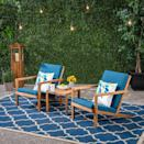 <p>Relax and have a cold drink with the <span>Leah Acacia Wood Chat Set</span> ($300).</p>