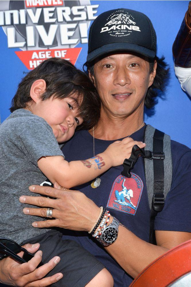 Will Yun Lee and son Cash in 2017 | Michael Tullberg/Getty