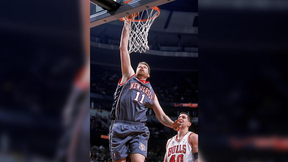 """<p>The reason this deal blew up is because Todd MacCulloch was diagnosed with a genetic neuromuscular disease that wasn't on the then-New Jersey Nets' radar when they pursued him. MacCulloch ultimately inked a six-year, $34 million deal.</p> <p>He wasn't exactly terrible. In fact, in his first and only year with the Nets, MacCulloch appeared in 62 games, averaging 9.7 points and 6.1 rebounds. But then the diagnosis came in. MacCulloch learned he had severe nerve damage in his feet. By 2003, he was out of the league.</p> <p><em><strong>Living Well in Retirement: <a href=""""https://www.gobankingrates.com/net-worth/sports/incredibly-rich-retired-athletes/?utm_campaign=1053693&utm_source=yahoo.com&utm_content=27"""" rel=""""nofollow noopener"""" target=""""_blank"""" data-ylk=""""slk:Maria Sharapova and 43 More Incredibly Rich Retired Athletes"""" class=""""link rapid-noclick-resp"""">Maria Sharapova and 43 More Incredibly Rich Retired Athletes</a></strong></em></p> <p><small>Image Credits: Jonathan Daniel / Getty Images</small></p>"""