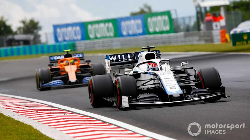 George Russell leads Lando Norris at Hungarian GP 2020