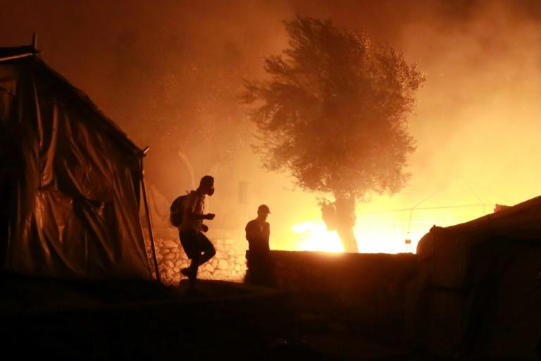Greece's main migrant camp gutted after huge blaze