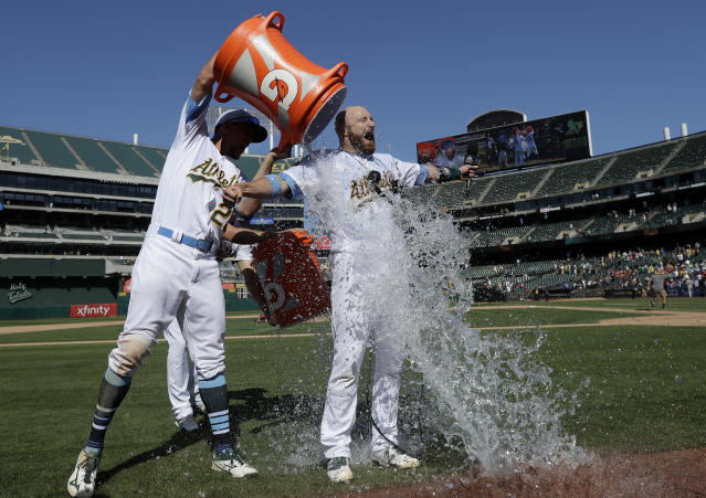 The Oakland Athletics are the most surprising postseason contenders in baseball. (AP Photo)
