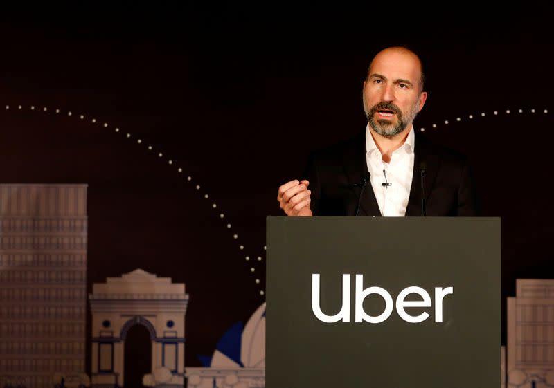 Uber may offer courier services for retail business - CEO Khosrowshahi