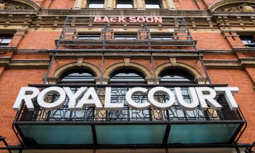 Royal Court theatre reopens to present 'living newspaper'