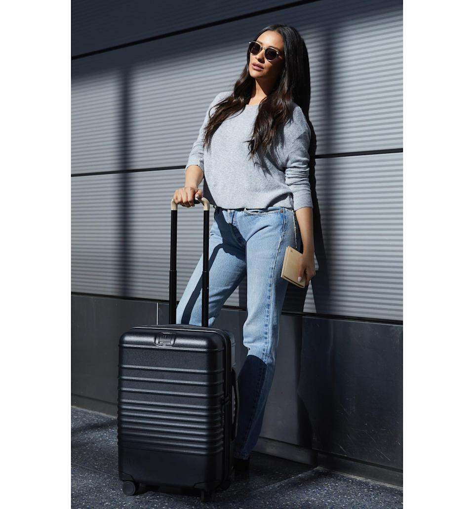 <p>This <span>Béis 21-Inch Rolling Spinner Suitcase</span> ($198) just launched, and it's already shot to the top of our wishlist. The sleek design and genius storage compartments are amazing.</p>