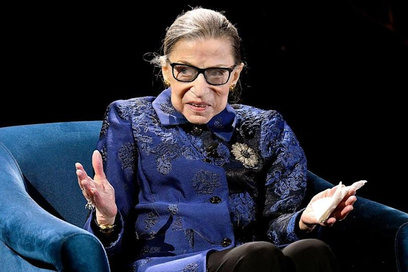 Justice Ruth Bader Ginsburg speaks onstage at the 2019 Berggruen Prize Gala in New York City. | Eugene Gologursky/Getty