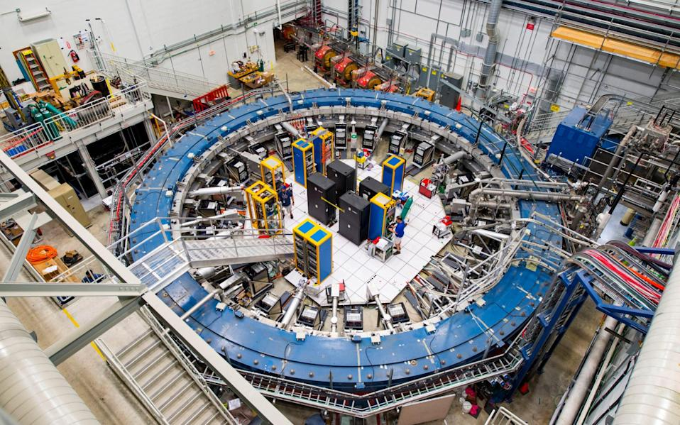 The Muon g-2 ring at the Fermi National Accelerator Laboratory in Chicago - AP