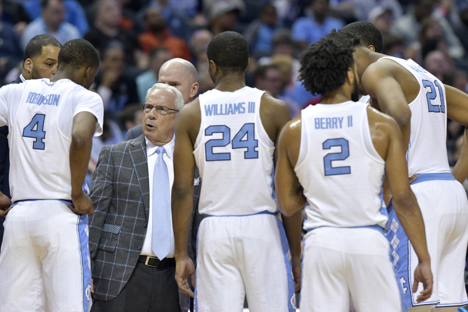 Roy Williams' Tar Heels couldn't do much of anything shooting-wise and Texas A&M made them pay for it. (Getty)