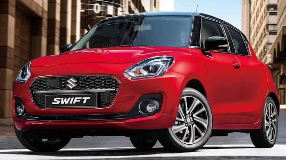 Maruti Suzuki Swift (facelift) spied in India for first time