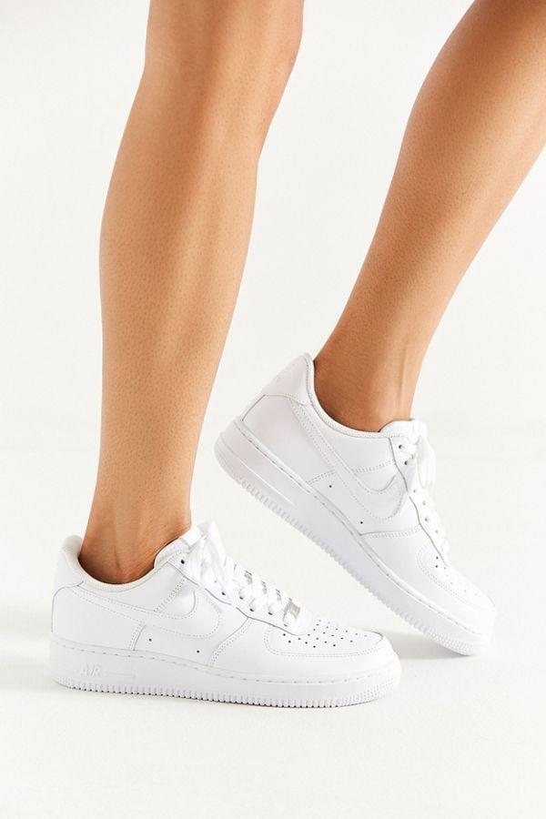 """<p>You can't go wrong with these classic <product href=""""https://www.nike.com/t/air-force-1-07-womens-shoe-KyTwDPGG/315115-112"""" target=""""_blank"""" class=""""ga-track"""" data-ga-category=""""Related"""" data-ga-label=""""https://www.nike.com/t/air-force-1-07-womens-shoe-KyTwDPGG/315115-112"""" data-ga-action=""""In-Line Links"""">Nike Air Force 1 '07 Sneakers</product> ($90).</p>"""