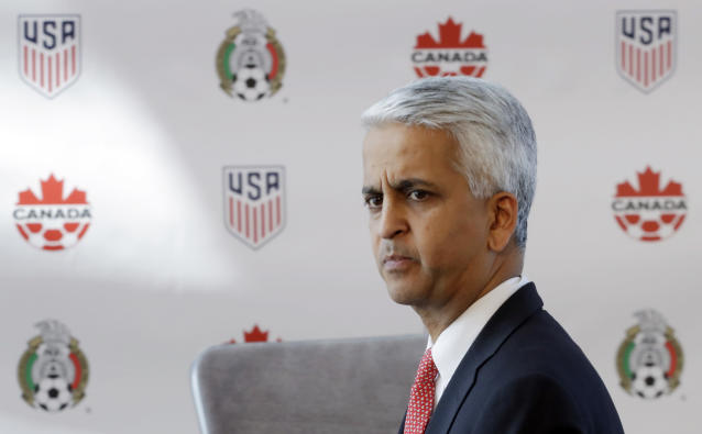 Sunil Gulati has not yet announced whether he will seek re-election as U.S. Soccer president. (AP)