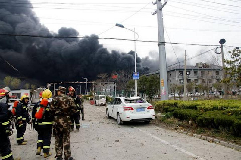 Death Toll Soars to 47 in China Chemical Plant Blast, 98 Seriously Injured