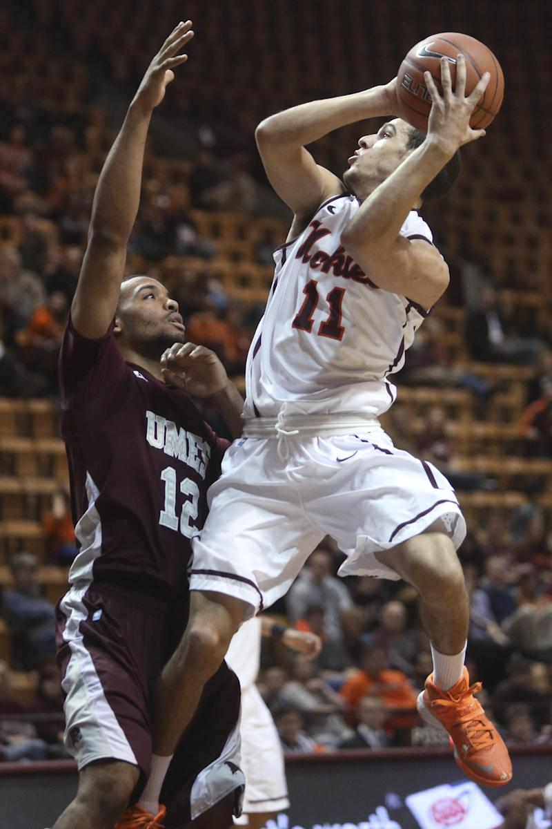 Hokies roll early, beat Md-Eastern Shore 82-66