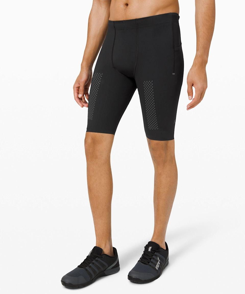"""<p><strong>Lululemon</strong></p><p>lululemon.com</p><p><strong>$88.00</strong></p><p><a href=""""https://go.redirectingat.com?id=74968X1596630&url=https%3A%2F%2Fshop.lululemon.com%2Fp%2Fmen-shorts%2FVital-Drive-Half-Tight-10&sref=https%3A%2F%2Fwww.menshealth.com%2Ffitness%2Fg27285318%2Fbest-cycling-shorts%2F"""" rel=""""nofollow noopener"""" target=""""_blank"""" data-ylk=""""slk:Shop Now"""" class=""""link rapid-noclick-resp"""">Shop Now</a></p><p>Another pair made with cross-training or spin in mind rather than serious cycling, these Lululemon shorts are made of a Lycra material that has interior gripping engineered to promote joint and muscle support. They also have side drop-in pockets for extra storage.<br></p>"""