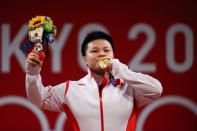 Weightlifting - Women's 87kg - Medal Ceremony
