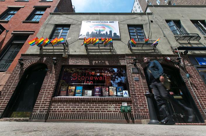The Stonewall Inn, where a police raid in 1969 triggered LGBT riots in New York City, is a landmark in the history of gay rights.
