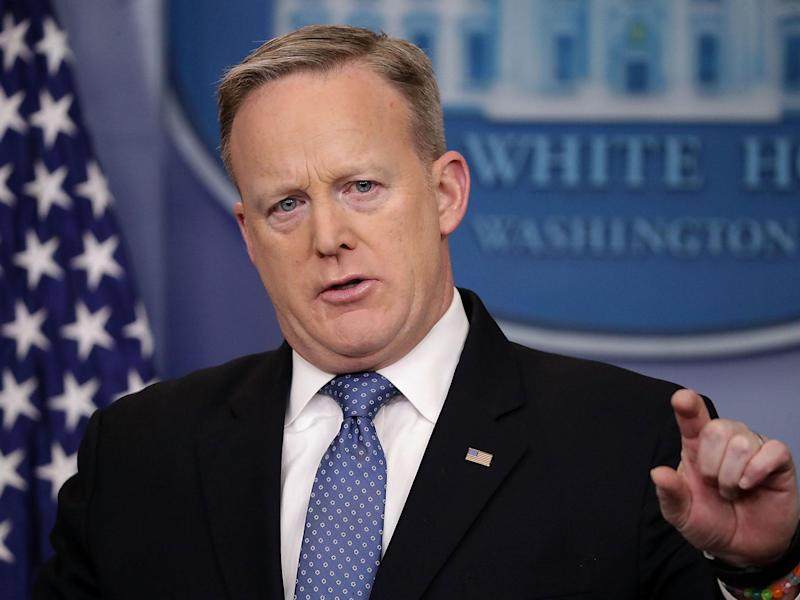 Mr Spicer has become a figure of mystery in the last week: Chip Somodevilla/Getty Images