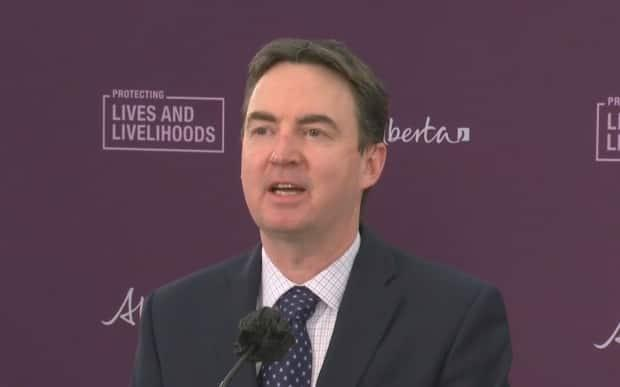 Labour and Immigration Minister Jason Copping says the province plans to give all workers three hours of paid leave to get vaccinated against COVID-19.  (Government of Alberta - image credit)