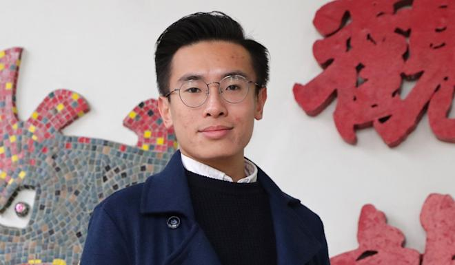 Pro-democracy activist Fergus Leung accuses the Housing Society of being inclined towards assigning office spaces to pro-government groups. Photo: Edmond So