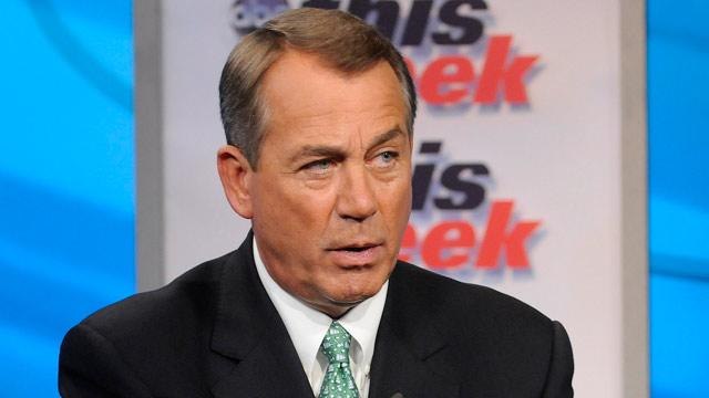 Speaker Boehner Says Obama Economic Message Divides Americans