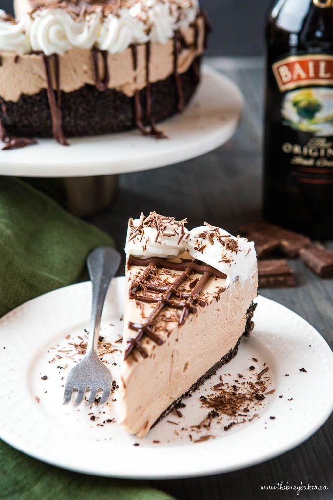 """<p>Turn your favorite after dinner sip into a creamy cheesecake! It's the perfect treat for the adults this St. Patrick's Day.</p><p><strong>Get the recipe at <a href=""""https://thebusybaker.ca/easy-no-bake-baileys-irish-cream-cheesecake/"""" rel=""""nofollow noopener"""" target=""""_blank"""" data-ylk=""""slk:The Busy Baker"""" class=""""link rapid-noclick-resp"""">The Busy Baker</a>.</strong></p><p><strong><a class=""""link rapid-noclick-resp"""" href=""""https://go.redirectingat.com?id=74968X1596630&url=https%3A%2F%2Fwww.walmart.com%2Fsearch%2F%3Fquery%3Dspringform%2Bpan&sref=https%3A%2F%2Fwww.thepioneerwoman.com%2Ffood-cooking%2Fmeals-menus%2Fg35269814%2Fst-patricks-day-desserts%2F"""" rel=""""nofollow noopener"""" target=""""_blank"""" data-ylk=""""slk:SHOP SPRINGFORM PANS"""">SHOP SPRINGFORM PANS</a><br></strong></p>"""