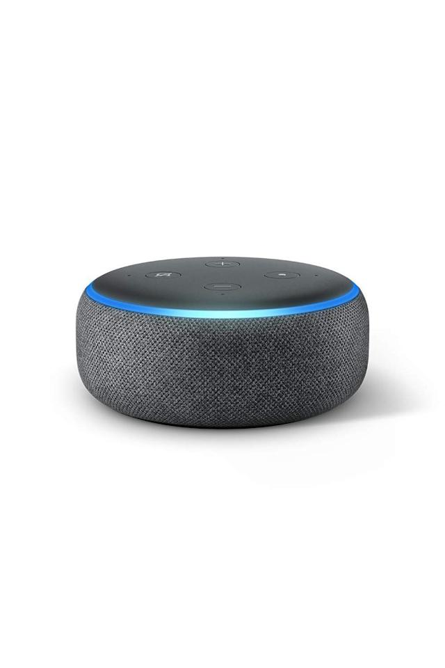 "<p><strong>Amazon</strong></p><p>Amazon Echo Dot</p><p><strong>$49.99</strong></p><p><a rel=""nofollow"" href=""http://www.amazon.com/dp/B0792KTHKJ/"">SHOP IT</a></p><p>Amazon's all-new third generation echo dot<em>-</em>a voice-controlled speaker that can read the news, play music, track your fitness, check the weather, and turn on the lights<em>-</em>will be half-off (!) on Black Friday. Yes, we're talkin' <strong>only $24</strong>. Alexa, play ""Rich Girl"" by Gwen Stefani. </p>"