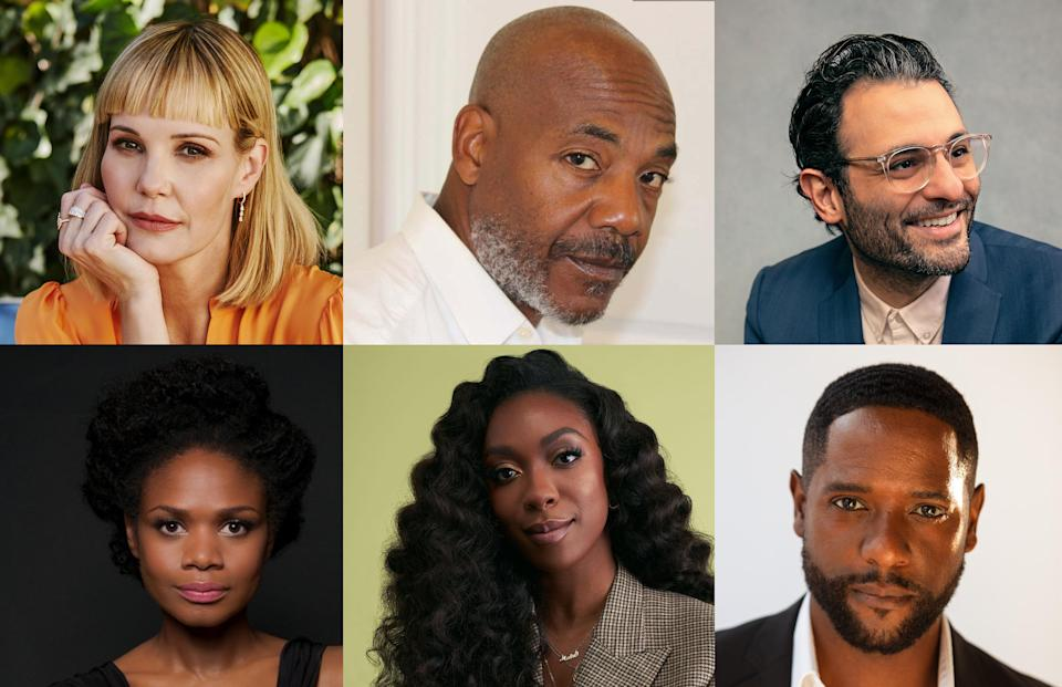 (Top L-R) Leslie Bibb, John Earl Jelks and Arian Moayed, (Bottom L-R) Kimberly Elise, Ego Nwodim and Blair Underwood - Credit: HBO Max