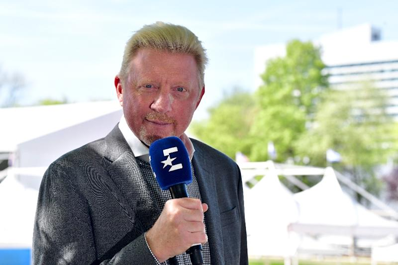 Boris Becker now focuses on his tennis activities, particularly commentating, as he attempts to use his fame to wipe out his debts (AFP Photo/Peter Kneffel)