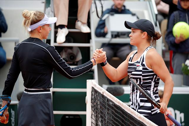 Australia's Ashleigh Barty ousted American teenager Amanda Anisimova in the French Open. (REUTERS/Charles Platiau)