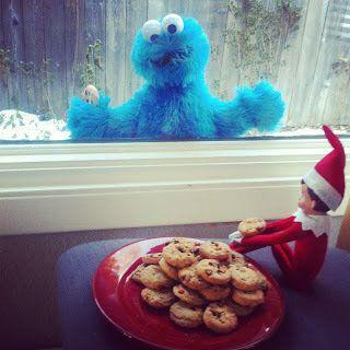 "<p>Poor Cookie Monster! Your elf could enjoy some cookies just out of his reach if he's feeling naughty, or invite him in to share if he wants to stay on Santa's nice list.</p> <p>Source: <a href=""http://2.bp.blogspot.com/-VUKgZUhR7gA/UL_5rTjZCSI/AAAAAAAAAK8/FA3JOCYxyjw/s320/Elf+on+the+Shelf+Cookie+Monster+Lockout.JPG"" target=""_blank"">Blogspot</a></p>"