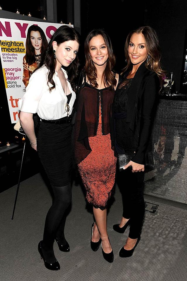 """Supported by her """"Gossip Girl"""" co-star Michelle Trachtenberg, and her """"Roommate"""" BFF Minka Kelly, Leighton Meester celebrated her February cover of NYLON magazine with a dinner party at the W hotel in NYC Tuesday night. Dimitrios Kambouris/<a href=""""http://www.wireimage.com"""" target=""""new"""">WireImage.com</a> - February 1, 2011"""
