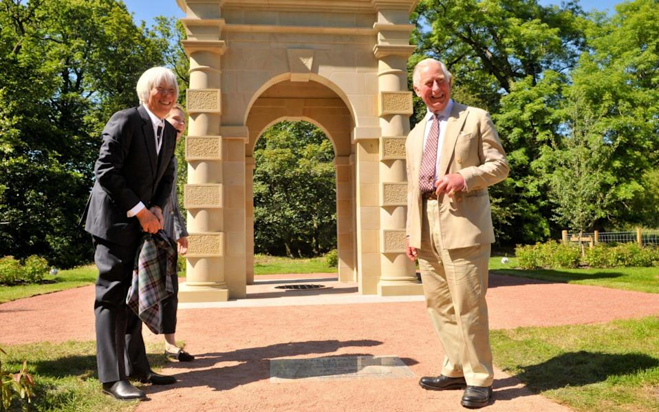 The Prince of Wales officially unveils The Lady's Well at Dumfries House estate
