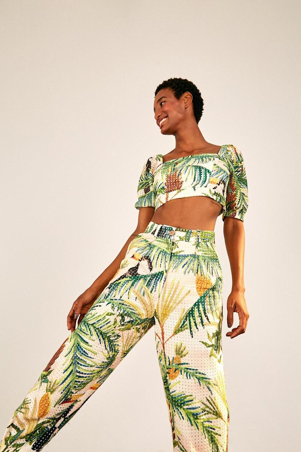 """<br><br><strong>Farm Rio</strong> Toucan Paradise Eyelet Pants, $, available at <a href=""""https://go.skimresources.com/?id=30283X879131&url=https%3A%2F%2Fwww.farmrio.com%2Fcollections%2Fsale%2Fproducts%2Ftoucan-paradise-eyelet-pants"""" rel=""""nofollow noopener"""" target=""""_blank"""" data-ylk=""""slk:Farm Rio"""" class=""""link rapid-noclick-resp"""">Farm Rio</a>"""