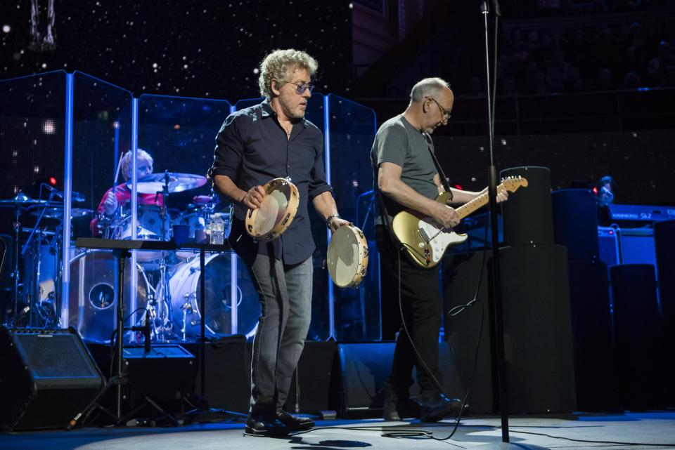 Roger Daltrey and Pete Townshend of The Who perform live on stage for the Teenage Cancer Trust annual concert series at the Royal Albert Hall, London. Picture date: Saturday 1st March 2017. Photo credit should read: DavidJensen/EMPICS Entertainment