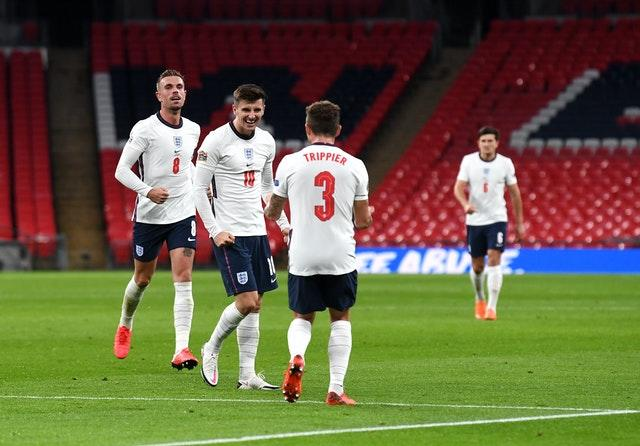 Mason Mount (centre) saw his deflected strike earn England victory over the best-ranked team in the world.