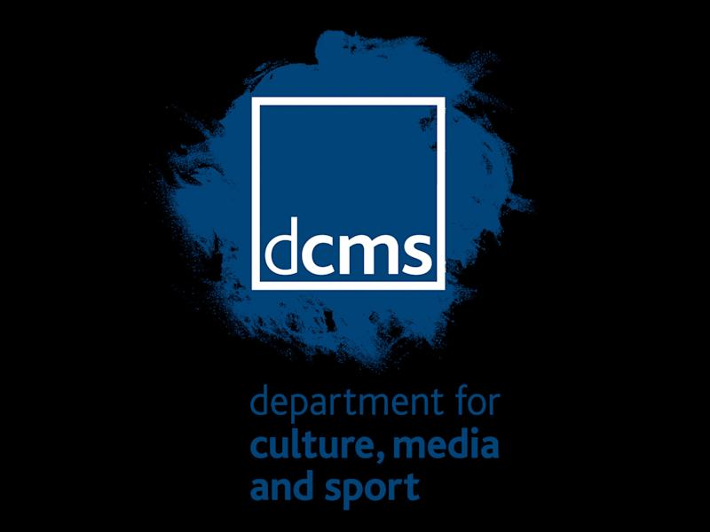 DEPARTMENT FOR CULTURE, MEDIA AND SPORT, Britain, graphic element on black
