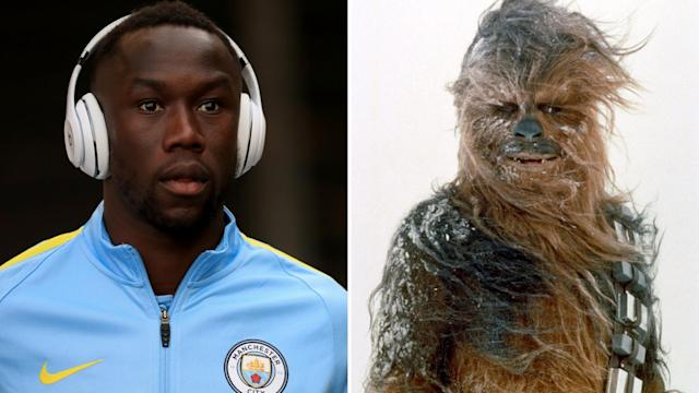 <p>Chewbacary Sagna – The former Man City defender and a hairy Wookie </p>