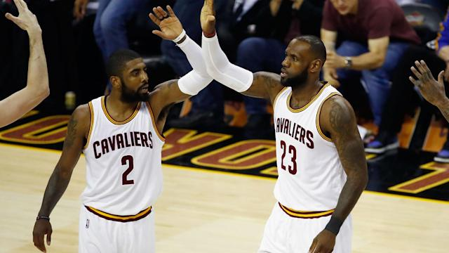 """LeBron James said he and former Cleveland Cavaliers team-mate Kyrie Irving are """"in a good place"""" after the latter called him to apologise."""